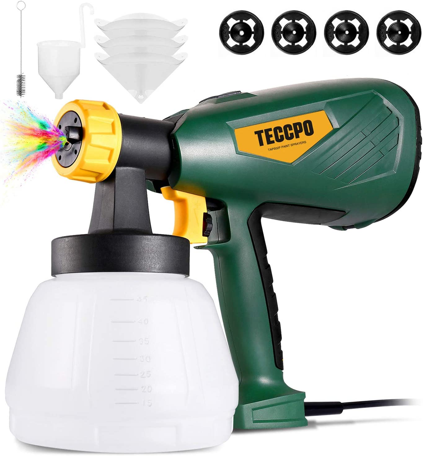 TECCPO Paint Sprayer 600W 1300ml Container Electric Limited Special Price Spra HVLP Denver Mall