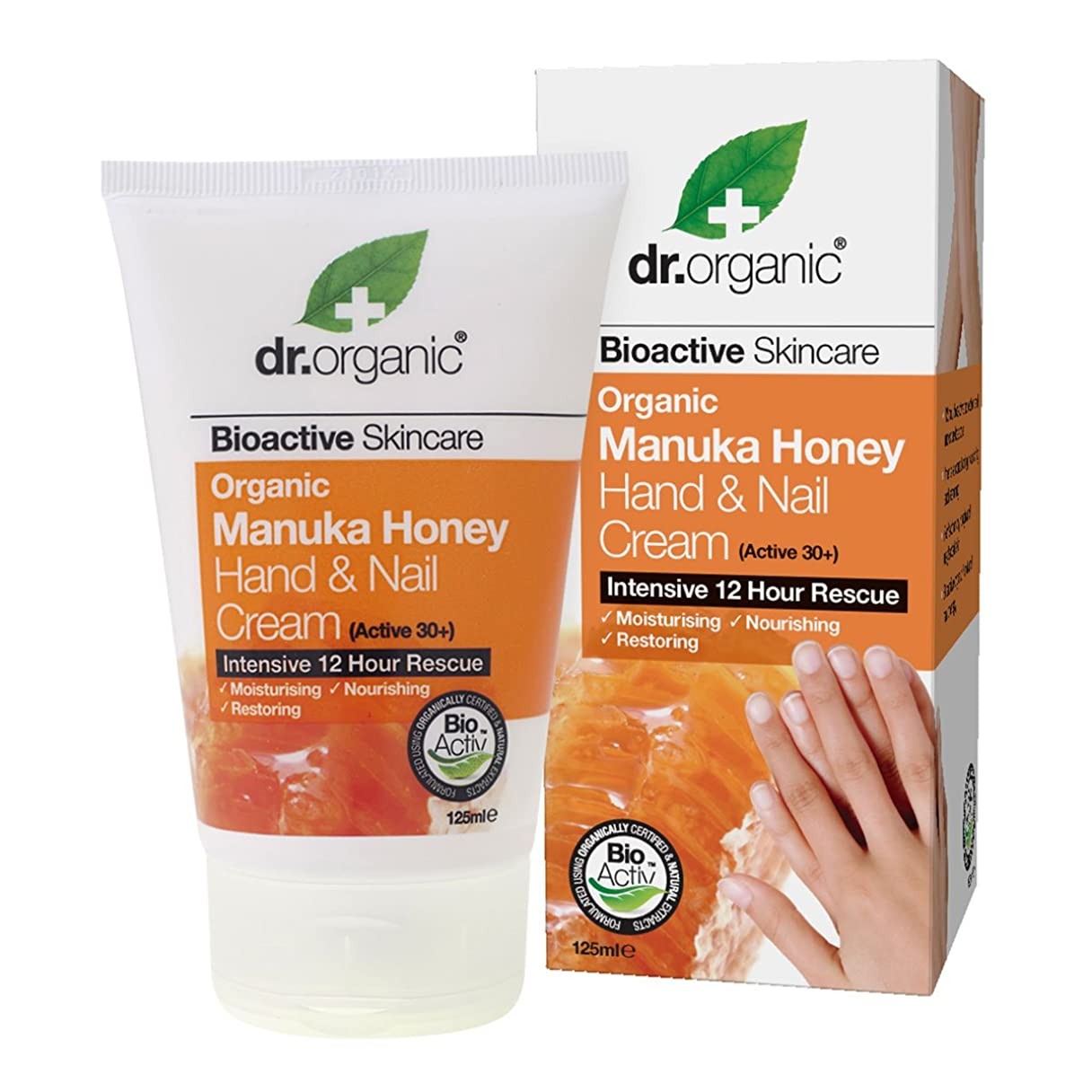 購入一族一回Dr.organic Organic Manuka Honey Hand And Nail Cream 125ml [並行輸入品]