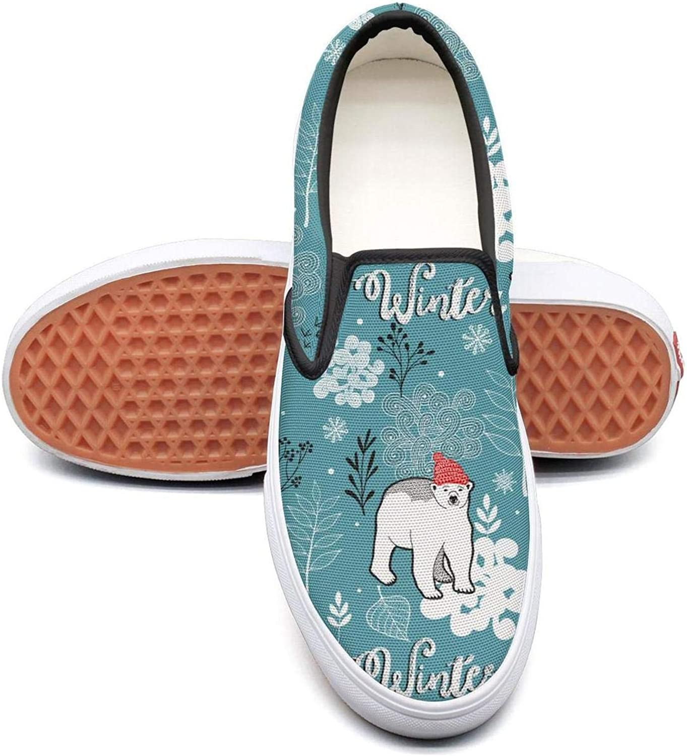 Uieort Little People Polar Bears Fish Womens Slip On Loafers shoes Casual