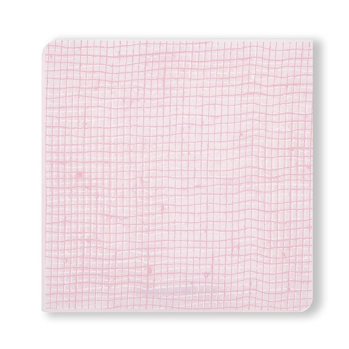 modern-twist Linen Print Set of 4 Coasters 100% plastic free silicone, tabletop, dining, decoration, modern design, Blush