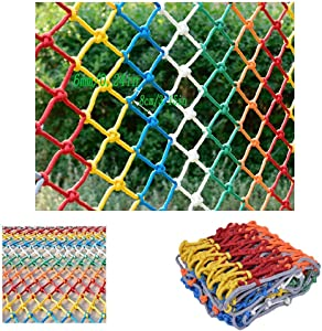 Children s Stairs Protective Net Safety Net Partition Net Ceiling Net Color Decorative Net Industrial Polyester Net High Altitude Anti-fall Net Rope Thickness 6mm Grid 8cm  Size 2x5m