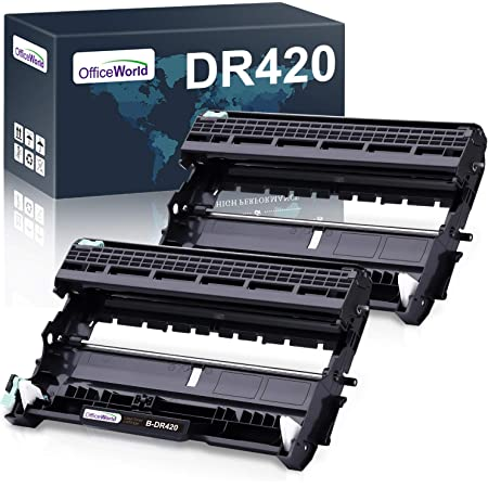 OfficeWorld Compatible Drum Unit Replacement for Brother DR420 DR-420 DR 420 for HL-2270DW HL-2280DW HL-2230 HL-2240 MFC-7360N MFC-7860DW DCP-7065DN Intellifax 2840 (2-Pack)