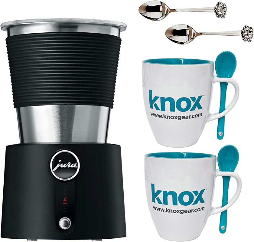 Jura Automatic Milk Frother Includes Set Of Two Mugs With Spoons And Two Teapot Demi Spoons