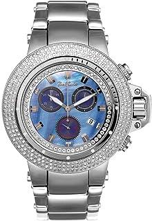 Joe Rodeo - Diamant - Reloj de pulsera para hombre (4 ctW), color plateado