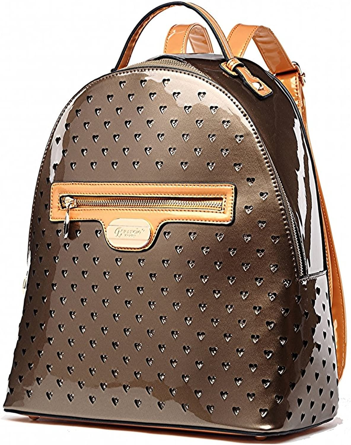 VERONA H & L New Women's Shiny Twinkle Star Vegan Leather Backpack