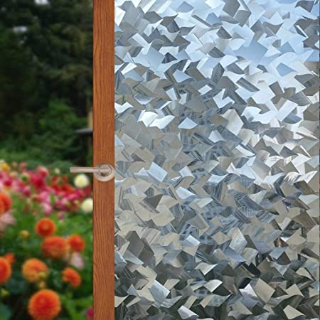Arthome Película Ventana Decorativa Templado para Vidrio Sin Pegamento Vinil Adherencia Electrostática Anti UV Adecuado para Hogar Oficina Protege Su Privacidad 60 * 254cm