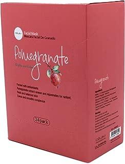Pomegranate : Celavi Essence Facial Mask Paper Sheet Korea Skin Care Moisturizing 24 Pack (Pomegranate)