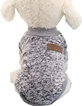 Mummumi Small Dog Clothes, Puppy Soft Thickening Warm Autumn Outwear Cat Windproof Dog Knit Sweaters Winter Clothes Outfit Apparel For Small Dog Chihuahua,Yorkshire, Terrier, Poodle (XS, Gray)