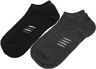DealMux, Deal MUX 2 Pair Stripes Print elástico Cuff Calcetines para niños