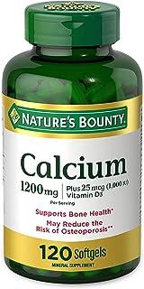 Calcium Carbonate & Vitamin D by Nature's Bounty, Supports Immune Health & Bone Health, 1200mg Calcium & 1000IU Vitamin D3...