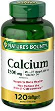 Calcium Carbonate & Vitamin D by Nature's Bounty, Supports Immune Health & Bone Health, 1200mg Calcium & 1000IU Vitamin D3...