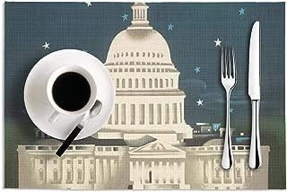 USA Capitol Building Dining Table Mats Heat-Resistant Non-Slip PVC pad 18