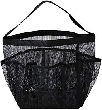 Quick Dry Mesh Shower Caddy, Hanging Shower Tote Bag Toiletry Bath Organizer Makeup Comestic Storage Bag Basket with 8 Storag