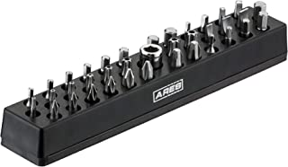 ARES 31000-37 Piece Hex Bit Set with Strong Magnetic Organizer - Includes 36 1/4-inch S2 Steel Bits & Socket Adapter - Phillips, Slotted, Security Torx, Square, Hex Sizes