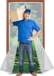 Magnetic Screen Door with Heavy Duty Reinforced Mesh Curtain, Fits Door Size up to 36