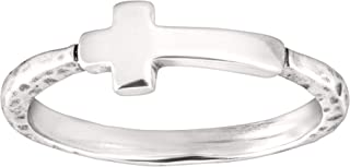 Simplex Cross' Horizontal Cross Ring in Sterling Silver