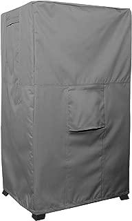 Smoker Cover - Titan Series - Waterproof Heavy Duty Square Smoker Protector - Grey