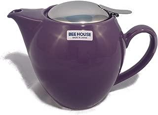 BEEHOUSE Teapot Rnd Large Eggplant, 1 EA