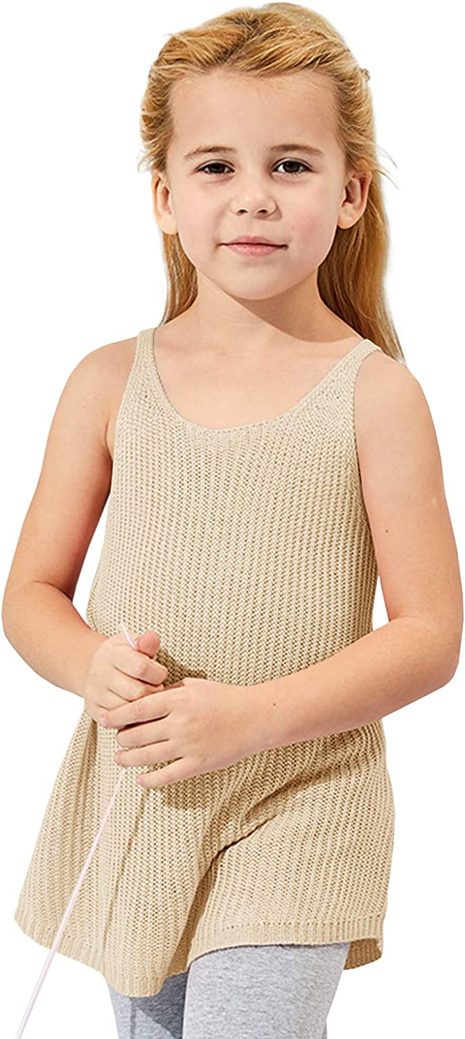 Xineppu Girls Loose Fit Round Neck Ranking TOP1 Summer Tank C New Free Shipping Tops Sleeveless