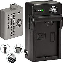 باتری و شارژر BM Premium LP-E5 برای دوربین Canon EOS Rebel XS، Rebel T1i، Rebel XSi، 1000D، 500D، 450D، Kiss X3، Kiss X2، Kiss F Digital SLR camera