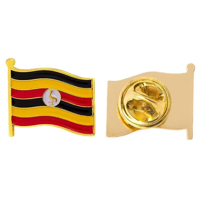 Uganda Country Flag Lapel Pin Enamel Made of Metal Souvenir Hat Men Women Patriotic (Waving Flag Lapel Pin)