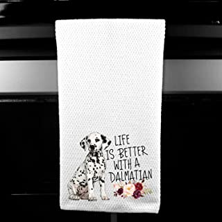 Life is Better with a Dalmatian Microfiber Kitchen Towel Gift for Animal Dog Lover