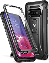 YOUMAKER Case for Galaxy S10e, Kickstand Case with Built-in Screen Protector Heavy Duty Protection Shockproof Full Body Slim Fit Cover for Samsung Galaxy S10e 5.8 inch (2019) - Black