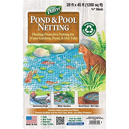 Haude 10Pcs Protector Cover for Protect Fish From Birds Pond Fish Net Buckles for Fishing Fish Pond Guard Pond Cover