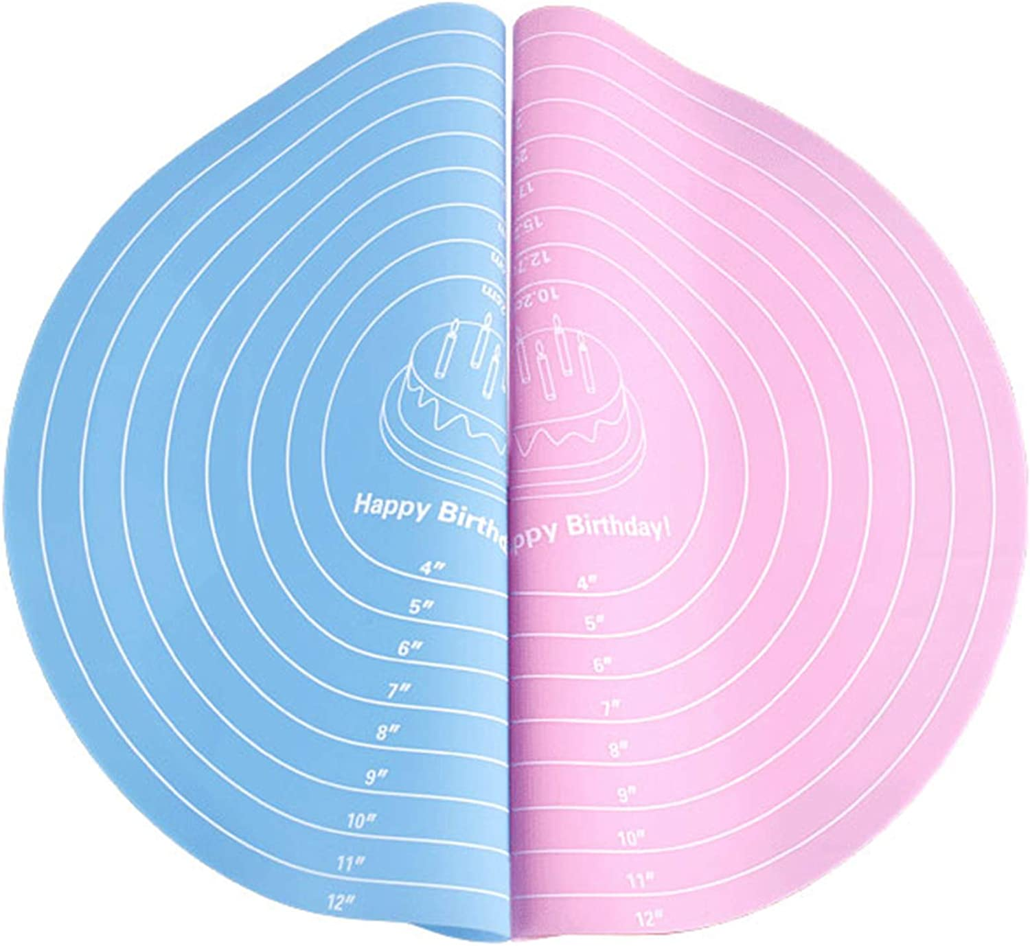 EORTA 2 Courier shipping free shipping Pcs Round Baking Mats Food Measurements 12 Gra Inch Online limited product with