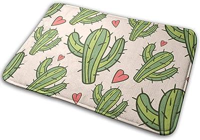 """Love Cactus Theme Doormat Non Slip Indoor/Outdoor Door Mat Floor Mat Home Decor, Entrance Rug Rubber Backing Large 23.6""""(L) x 15.8""""(W)"""