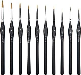 Lenbicki Micro Detail Paint Brush Set,10 PCS Paint Brushes Set Miniature Artist Painting Brushes for Paintings Art Acrylic...