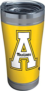 Tervis 1321177 Appalachian State Mountaineers Campus Stainless Steel Insulated Tumbler with Clear and Black Hammer Lid, 20...