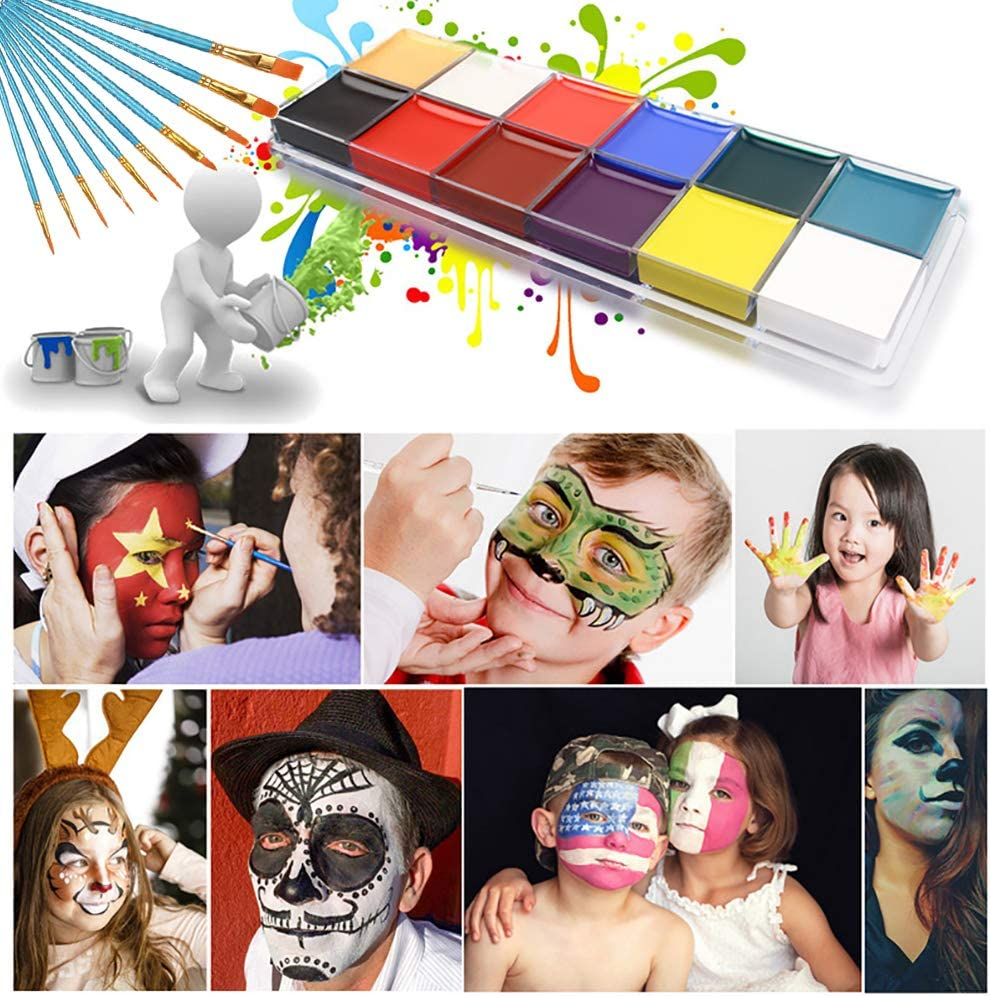 Face Paint Kit Manufacturer OFFicial shop for Kids 12 with Direct sale of manufacturer Painting Colors 10 Br Kits
