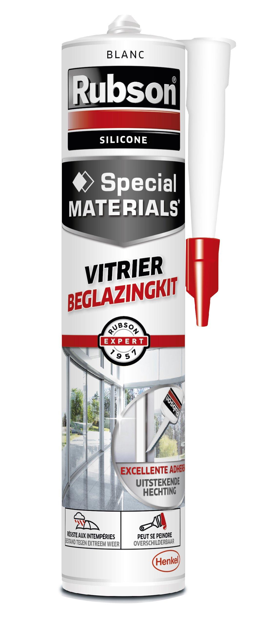 Rubson - Masilla para juntas de cristales (280 ml), color blanco: Amazon.es: Bricolaje y herramientas
