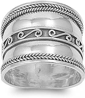 Argent Sterling .925 FEMME 10 mm Fantaisie Spirale Twist Amour Noeud Clous Boucles d/'oreilles