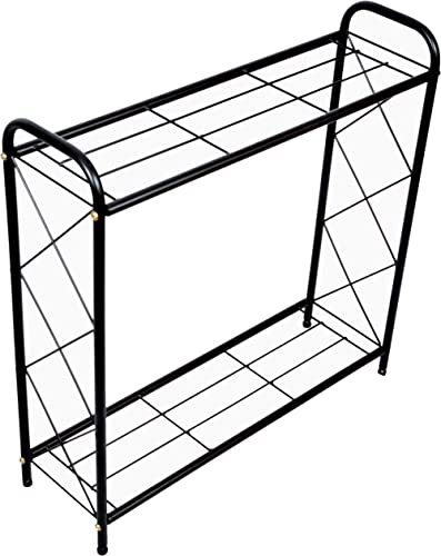 D&V ENGINEERING - Creative in innovation Metal 2 Tier Rack Type Plant Stand/Pot Stand for Living Room or Garden, 26 i...