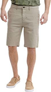 Funky Buddha Men's Tailored Shorts In Plain Pattern