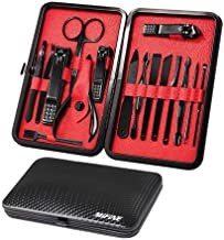 Mens Manicure Set – Mifine 16 In 1 Stainless Steel Professional Pedicure Kit Nail..