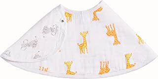 Aden By Aden And Anais Safari Babes Giraffe/Elephant Print Muslin Burpy Bib, Multicolor
