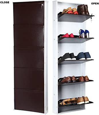 Orril Steel Shoe Rack (21-inches, White and Brown)