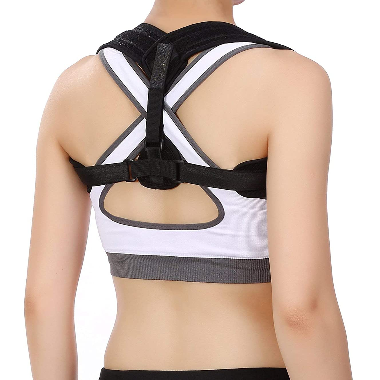 JOYTOUR Posture Correction Adjustable Clavicle Shoulder Upper Back Support Brace Improve Posture Correction for Women Men Kids Corrector De Postura