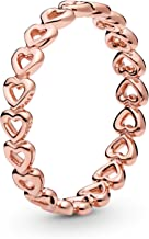 Pandora Jewelry - Band of Hearts Ring for Women in Pandora Rose