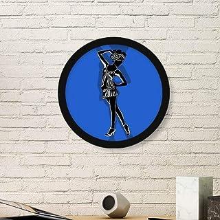 DIYthinker Azul Plump Arte Bella Pintura de la Foto del Cuadro Redondo de Madera del hogar del Marco Regalo decoración de ...