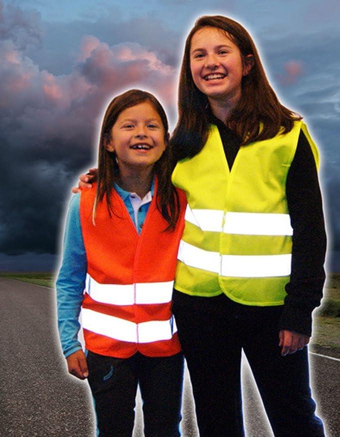 Kinder Warnweste Warnschutzweste Gelb Gr Xs 3 6 Jahre Baumarkt