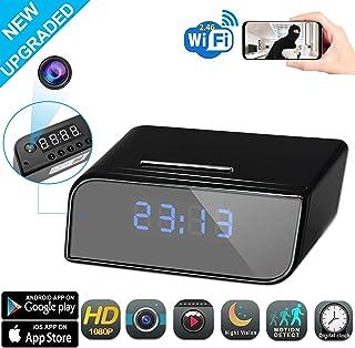 Cámara espía Reloj WiFi cámara Oculta HD 1080P con visión Nocturna detección de Movimiento transmisión remota en Vivo Cámara de Seguridad para el hogar en Interiores