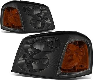 For 02-09 GMC Envoy 2nd Gen XL SUV Pair of Smoked Lens Amber Corner Headlight Lamp