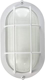 Westinghouse Lighting SL2P Westinghouse 6783500 One-Light Exterior Wall Fixture, Finish on Steel with White Glass Lens, Oblong,