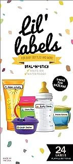 Bottle Labels, Write-On, Self-Laminating, Waterproof Kids Name Labels for Baby Bottles, Sippy Cup for Daycare School, Dishwasher Safe (Playful Patterns)