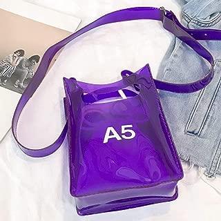 mymerlove K139 Wild Transparent Jelly Package Messenger Bag with Adjustable Strap