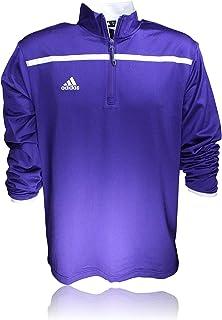 adidas Men' Climalite 1/4 Zip Purple Jacket